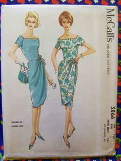 Vtg 1961 McCall's 5866 HANNAH TROY Dress by raggspatternstash