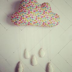 'Mummy I like clouds, lets make one for my room'. A cheery cloud for a rainy day using Liberty print fabric! https://www.facebook.com/willaandbobbin?ref=hl
