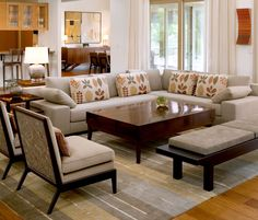 Spa House-Living Room to Dining Room Open cropped - Contemporary - Living room - Images by Cravotta Interiors | Wayfair