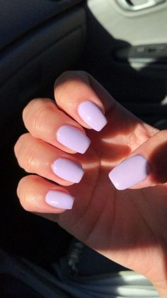 Acylic Nails, Lavender Nails, Best Acrylic Nails, Purple Acrylic Nails, Light Purple Nails, Acrylic Nail Designs For Summer, Squoval Acrylic Nails, Pastel Blue Nails, Violet Nails