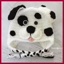 41 Adorable Crochet Baby Hats & Patterns to Make - Crochet Dalmatian Dog Pattern Crochet Animal Hats, Crochet Baby Hat Patterns, Crochet Kids Hats, Crochet Beanie, Knit Or Crochet, Crochet Crafts, Crochet Projects, Free Crochet, Crocheted Hats
