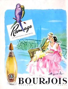 Parfum Ramage Bourjois 50's #Bourjois #Pub