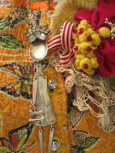 my spoon girl with Marie's derby bloom . . . so cute! . . .