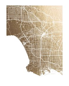 Los Angeles Map by Alex Elko Design for Minted