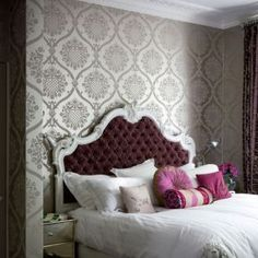 Luscious bedroom boudoir wallpaper wardrobe decor ideas.jpg