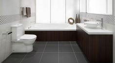 Bathroom Ideas from Caroma Neutral Bathroom Tile, Small Bathroom Tiles, Mosaic Bathroom, Bathroom Photos, Large Bathrooms, Bathroom Renos, Bathroom Flooring, Bathroom Ideas, Custom Bathrooms