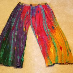 DIY Boho pants, old skirt