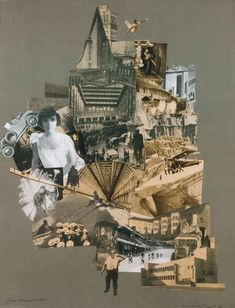 Bauhaus Women: Marianne Brandt, Our Unnerving City, collage, © ADAGP, Paris Collage Foto, City Collage, Art Du Collage, Collage Illustration, Collage Maker, Illustrations, Bauhaus, Collages, Photomontage