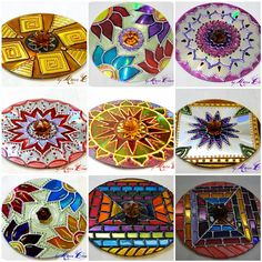 The World's Best Photos of cd and mandala Kids Crafts, Home Crafts, Arts And Crafts, Mandala Art, Mandalas Drawing, Collage Sheet, Mosaic Patterns, Flower Patterns, Cd Recycle