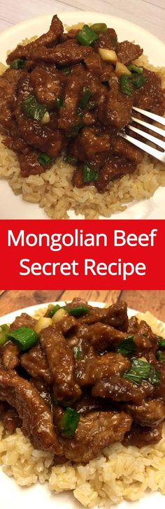 Mongolian Beef Recipe - Secret Copycat Recipe To Make Mongolian Beef Like P.F.Chang's! | http://MelanieCooks.com