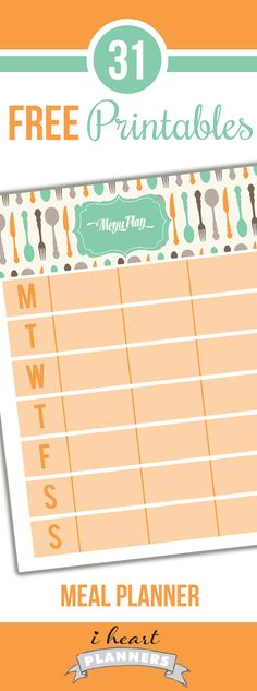 Welcome to Day 14of the 31 days of free printables! Today's printable was probably one of the most requested ones: a weekly meal planner. I have included two versions in the pdf. One has a Monday start to the week and one has a Sunday start, so you can use whichever one you prefer. (This …