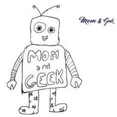 """""""Mamá te he hecho un robot para tu blog"""" #MomandGeek #CosasdeAlicia #dibujo #robot"""