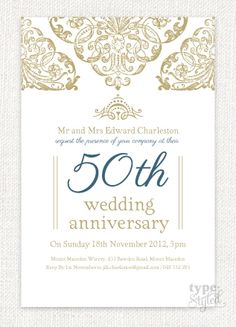 Grandeur Wedding Anniversary Invitation