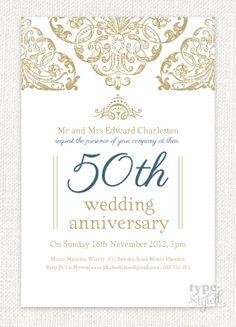 Grandeur Wedding Anniversary Invitation