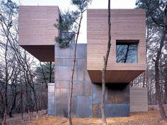 wood and corten: Element house / Sami Rintala