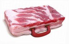 Snappy. #bacon briefcase