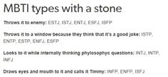 MBTI types with Stone; tumblr