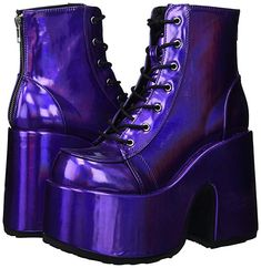 High Ankle Boots, Platform Ankle Boots, Ankle Booties, Heeled Boots, Goth Platform Shoes, Kawaii Shoes, Aesthetic Shoes, Baskets, Purple Shoes