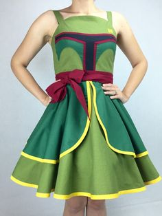 Take On Any Scoundrel In This Pin Up Style Boba Fett Cosplay Dress
