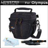 Lowepro Compact Camera Case / Bag Kit For Olympus TG-1 iHS, TG-1iHS, PEN E-P3, E-PL3, E-PM1, E-PL2, E-PL1, E-P2 Micro Four Thirds Interchangeable Lens Digital Camera Includes Lowepro Adventura Top-Loading TLZ 15 Bag / Case - Black + LensPen Cleaning Kit + (Electronics)