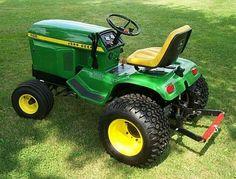 John Deere 400 V61 and HDPA tires Garden Tractors For Sale, Small Garden Tractor, John Deere Garden Tractors, Jd Tractors, Lawn Mower Tractor, Small Tractors, John Deere Riding Mowers, Riding Lawn Mowers, John Deere 400