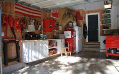 Lots of good garage storage ideas