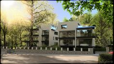 """Sunrise Apartments"" by wysiwyg using Bentley Microstation V8i SS3 #Microstation #3drendering #architecturedesign"