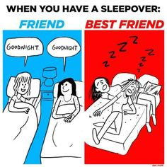 Best friend, funny, and best: when you have a sleepover: friend best friend goodnight eaeefos dan meth Best Friend Vs Friend, Love My Best Friend, Best Friends Sister, Best Friends Funny, Best Friends For Life, Friend Memes, Best Friend Goals, Best Friend Quotes, Best Friends Forever