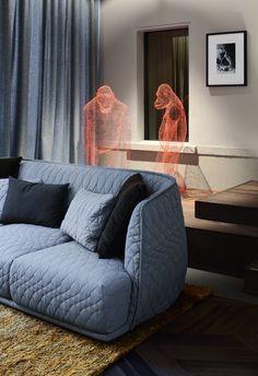 transparent sculptures - das stue hotel interior by Patricia Urquiola & LVG Arquitectura | via c'est magnifique Monkeys ~ Cityhaüs Design