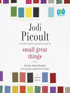 "Small Great Things by Jodi Picoult (16h15m) #Lib2Go #FSPL #Audio (470p) #Book #FSPL #FirstLine: ""The miracle happened on West Seventy-Fourth Street, in the home where Mama worked. It was a big brownstone encircled by a wrought-iron fence, and overlooking either side of the ornate door were gargoyles, their granite faces carved from my nightmares."""