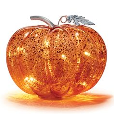 Mercury Glass Pumpkin with LED Lights For more Avon Home and Avon Holiday Products Glass Pumpkins, Avon Representative, Halloween Jewelry, Luz Led, Mercury Glass, Fall Halloween, Halloween Tips, Happy Halloween, Skin So Soft