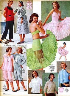 Sweet Vintage Designs: History Of Lingerie Teen Lingerie, Vintage Lingerie, 1950s Fashion, Vintage Fashion, Vogue Vintage, Vintage Dresses, Vintage Outfits, Fashion Catalogue, Fashion History