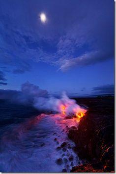 ... spectacular beautiful volcano magma lava eurpting photo pictures (2