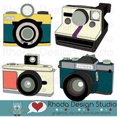 Vintage cameras that will be great on bulletins pages, cards, tags, labels, newsletters and more. 4 individual, high resolution (300 dpi) JPG and PNG files.
