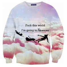 Blouse: disney swag peter pan disney clothes printed sweater... ❤ liked on Polyvore