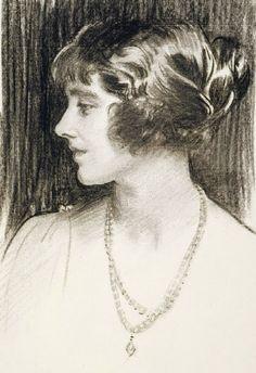 """Lady Elizabeth Bowes-Lyon"" - by John Singer Sargent"