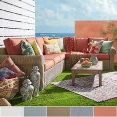 Shop for Barbados Mocha Rolled Arm Wicker Outdoor Cushioned Sectional by NAPA LIVING. Get free delivery at Overstock.com - Your Online Garden