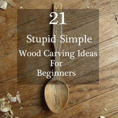 Easy-To-Do Wood Carving Ideas for whittling and chip carving to help get you started and familiar with various cuts and techniques.