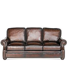 Dillards Bernhardt Seth Leather Sofa 1600 Sale Living