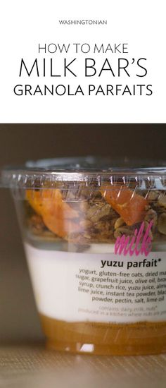 Get Christina Tosi's tasty parfaits—exclusive to DC—without waiting in line Bar Recipes, Cookbook Recipes, Momofuku Recipes, Sushi Sandwich, Crack Pie, Christina Tosi, Momofuku Milk Bar, Little Lunch, Thai Tea