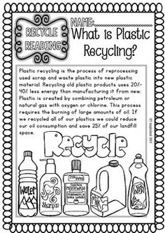 Recycling Readings and Printables Grade) Earth Science Activities, Social Studies Activities, Educational Activities, Science Ideas, Primary Teaching, Teaching Science, Teaching Ideas, Writing Traits, Recycling