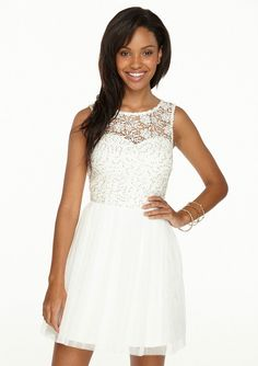 Gemma Sequin Lace & Tulle Dress