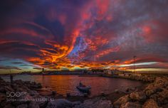 Sky on Fire by StergosSkulukas. @go4fotos