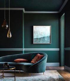 Colour inspiration. Love velvet ❤️  teal Green Blue Interior design