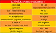 YDS İÇİN BİLMENİZ GEREKEN 10 YARARLI KALIP (5)