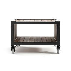 The Hardwood Hipster Side Table works double duty with an environmentally friendly recycled teak frame and a chic gray iron frame. Wood slats and metal details add a decidedly hip, industrial feel to a...  Find the Hardwood Hipster Side Table, as seen in the Williamsburg Hip Collection at http://dotandbo.com/collections/williamsburg-hip?utm_source=pinterest&utm_medium=organic&db_sku=98614