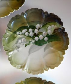 Lily of the Valley Cake Plates by Phoebesatticseattle