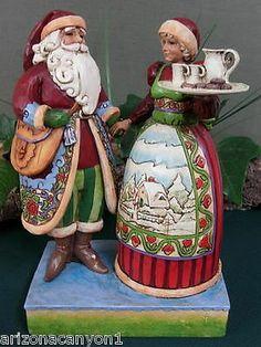 HAVE!  Jim Shore Santa Claus & Mrs. Claus 4005274 Tis the season for loving hearts NEW