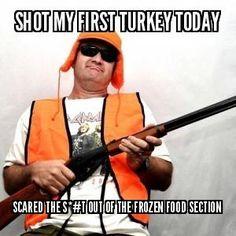 Redneck turkey hunting What a guy!!!