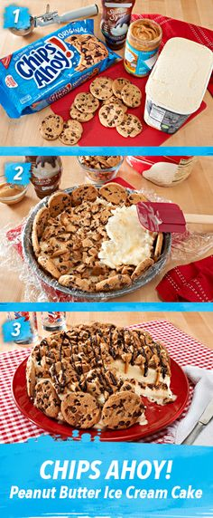 Things that look good to eat: CHIPS AHOY! Peanut Butter Ice Cream Cake Recipe